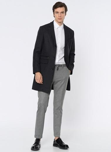 George Hogg İngiliz Yaka Klasik Yün Palto Antrasit